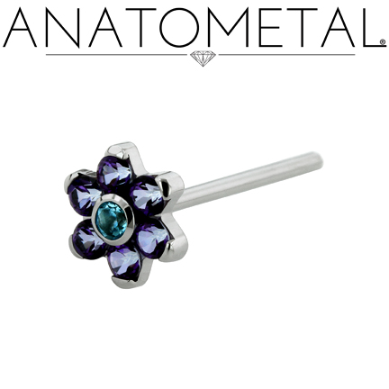 jewelry flower nostril screws 0019
